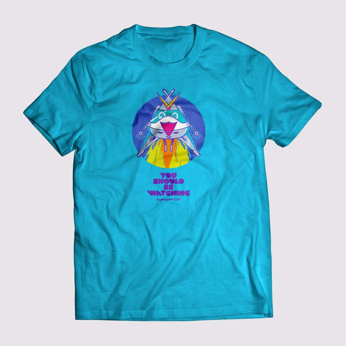 Funimation Merch T Shirt Blue Apparel