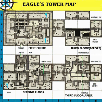 Link's Awakening Level 7: Eagle's Tower Map