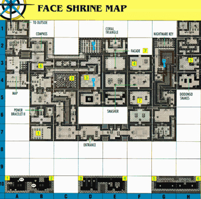 Link's Awakening Level 6: Face Shrine Map