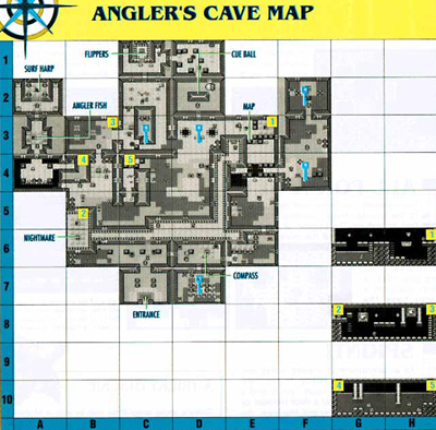 Link's Awakening Level 4: Angler's Tunnel Map