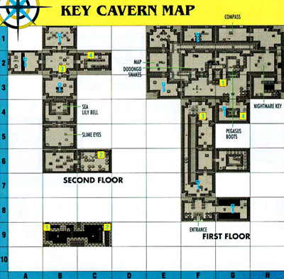 Link's Awakening Level 3: Key Cavern Map