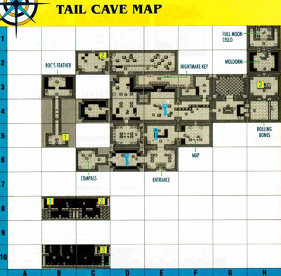 Link's Awakening Level 1: Tail Cave Map