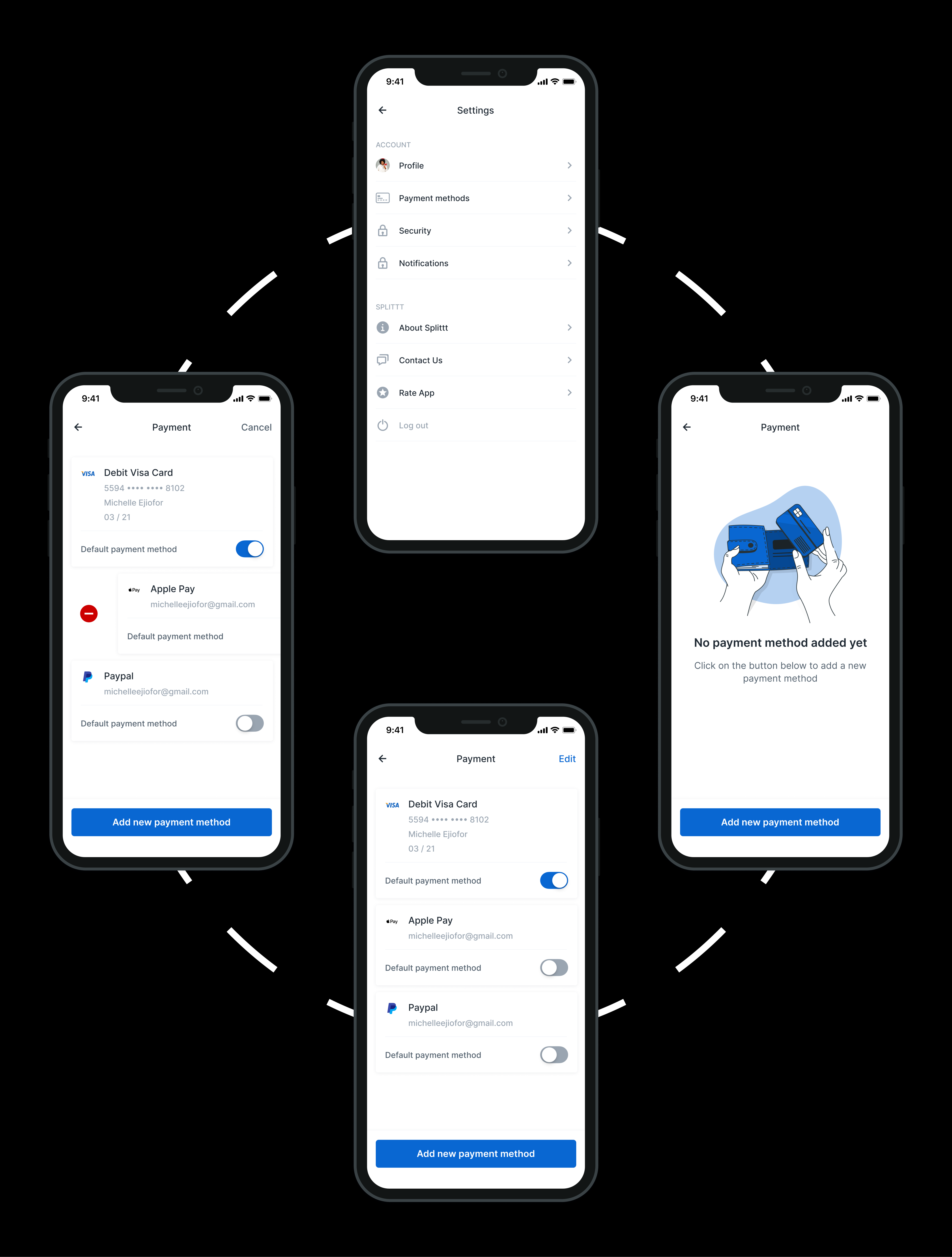 Add payment method flow