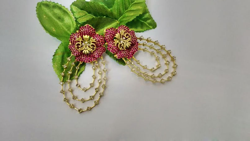 Floral Antique Earrings