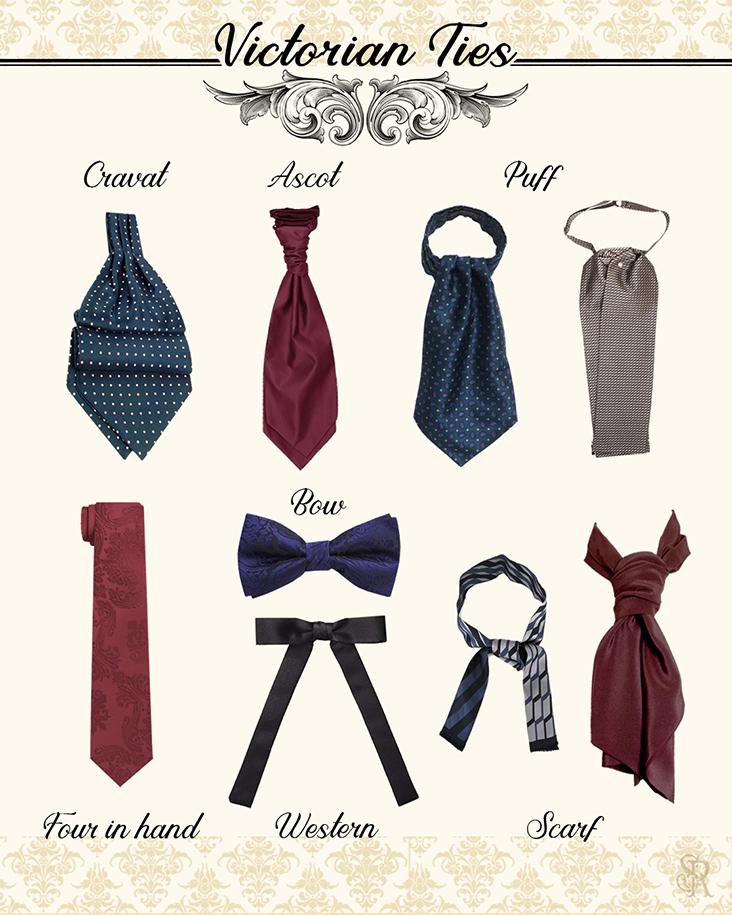 Victorian Accessories, Neckties