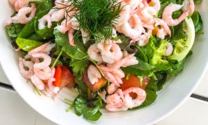 Radicchio Salad with Lemon-Herb Grilled Shrimp Recipe