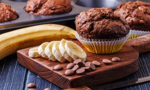 Banana-Chocolate Muffins With Pumpkin Seeds