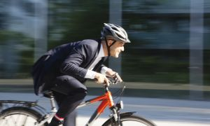 Bike to Work - But Wear Your Helmet