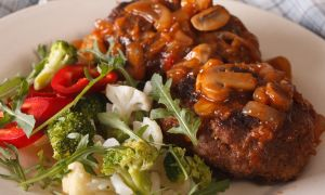 Sirloin Steaks with Mushroom Sauce