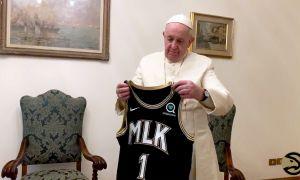 Pope Francis Bestows Blessing on Atlanta Hawks' Sharecare MLK Jersey