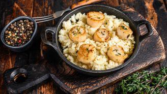 Lemony Risotto with Seared Scallops Recipe