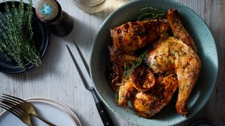 Roasted Chicken with Lemon and Thyme
