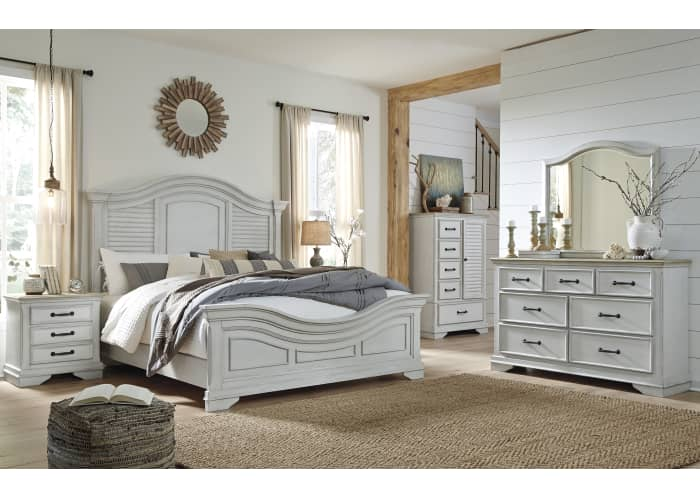 Teganville Exclusive 5 Piece Panel, White Bedroom Furniture Canada