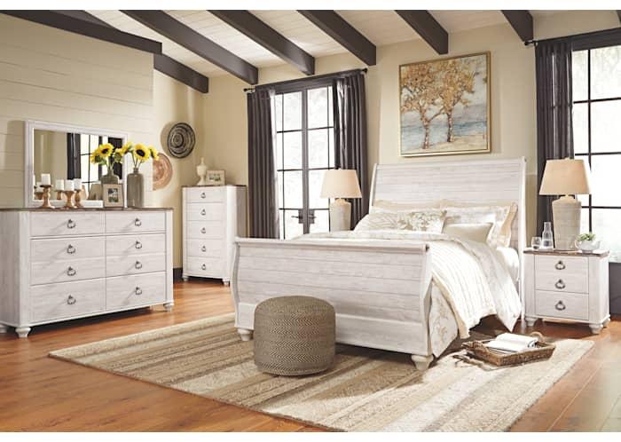 Willowton 3 Piece Sleigh Bed Ashley, Willowton Queen Sleigh Bed
