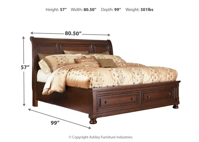 Porter 3 Piece Sleigh Bed Ashley, Sleigh Bed Queen Size Mattress