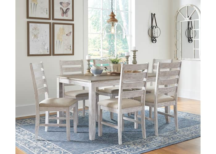 Skempton Dining Room Table Set 7 Cn, Ashley Furniture Blue Dining Room Chairs