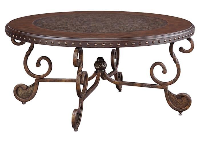 Rafferty Round Tail Table Ashley, Round Coffee Table Ashley Furniture Canada