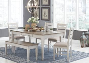 Skempton Rect Drm Table W Storage, Dining Room Table With Storage