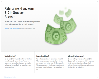 Please Click on my referral link and get $10 in Groupon Bucks