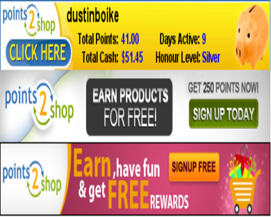 Points2Shop - Get $2.50 Free when you signup. Earn money to take Surveys!