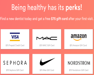 Get a Free $75 Gift Card After Visiting Your First Dentist at Opencare