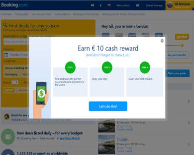 Get 15 Euro Cash Reward using Referral link