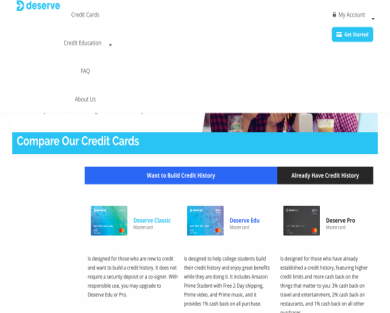 Get $30 once approved for the Deserve Credit Card
