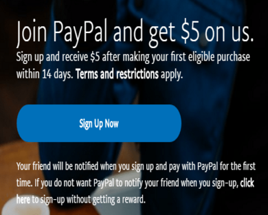 Get $5 PAYPAL DISCOUNT
