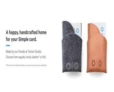 Get a free leather wallet when opening a free Simple Checking Account