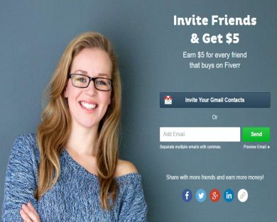 Earn $5 for every friend that buys on Fiverr