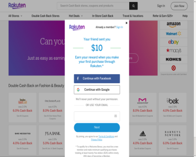 Get $10 CASH rebate when shopping online