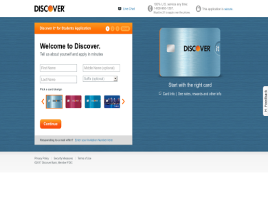 Become a Discover cardmember and earn $50 upon making your first purchase