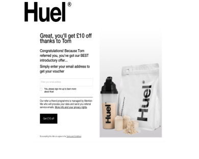 Get ten pounds off your first order with Huel