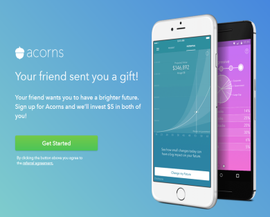Free $5. Round up your purchases and invest your spare change with the Acorns app. Set and forget passive investing!