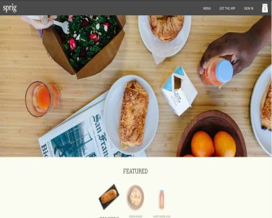 Sprig- $10 off your first delicious, healthy delivered meal!