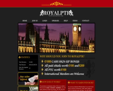 Royalptr - Get $20 by my referral link and $1000 for signup