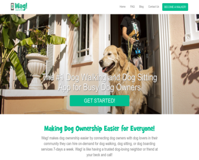 Get store credit for the dog walking app, Wag!