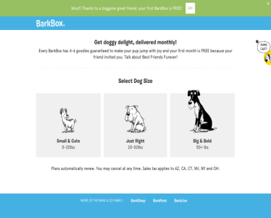 Get a bark box free of cost when using my friend referral