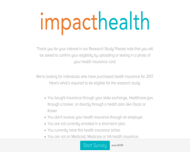 Get $25 for taking and qualifying for 15-min healthcare survey