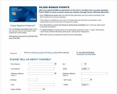 Earn 50,000 bonus points ($500) with Chase Sapphire Preferred