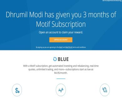 Get  free 3-month trial of Motif using my referral link