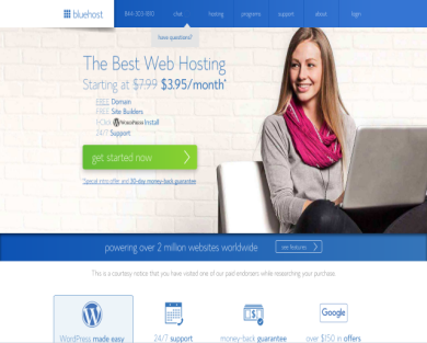Get $65 per referral when you join Bluehost