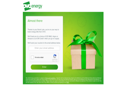 Get 25 Pound gift voucher for Amazon or M&S with the best energy company in the UK