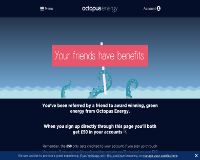 Switch to Octopus Energy and get FREE 50 credit
