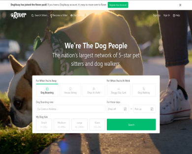 Promo Code: PUPPYLOVECO20 -$20 off your first pet sitting service at Rover.com