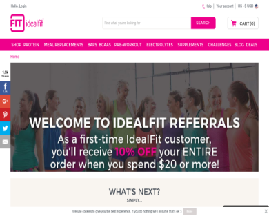 10% off IdealFit products