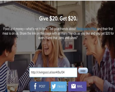 Get a $20 meal with LivingSocial Restaurants Plus