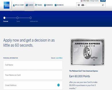 Amex platinum 60000 points after $5000 spend