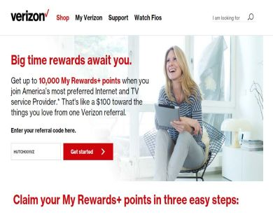 Verizon Fios Visa card ($100 Triple Play / $75 Double Play / $50 Gigabit internet)