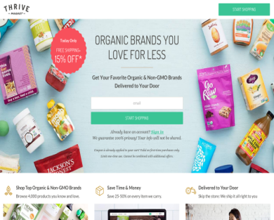 Thrive Market- 15% Off your first order!